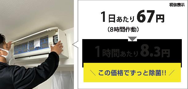 1度の設置で2か月有効(8時間/日にエアコン使用時) 1個4,000円(税抜)