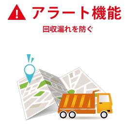 回収漏れを防ぐアラート機能