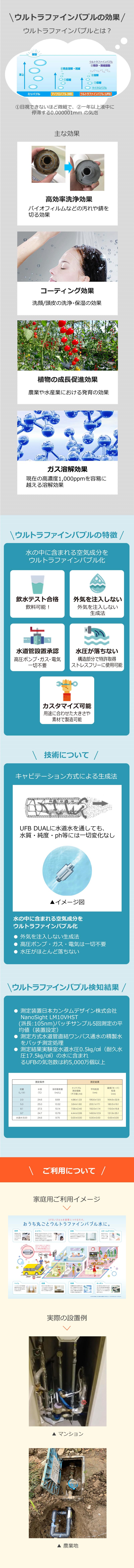 ウルトラファインバブルの詳細